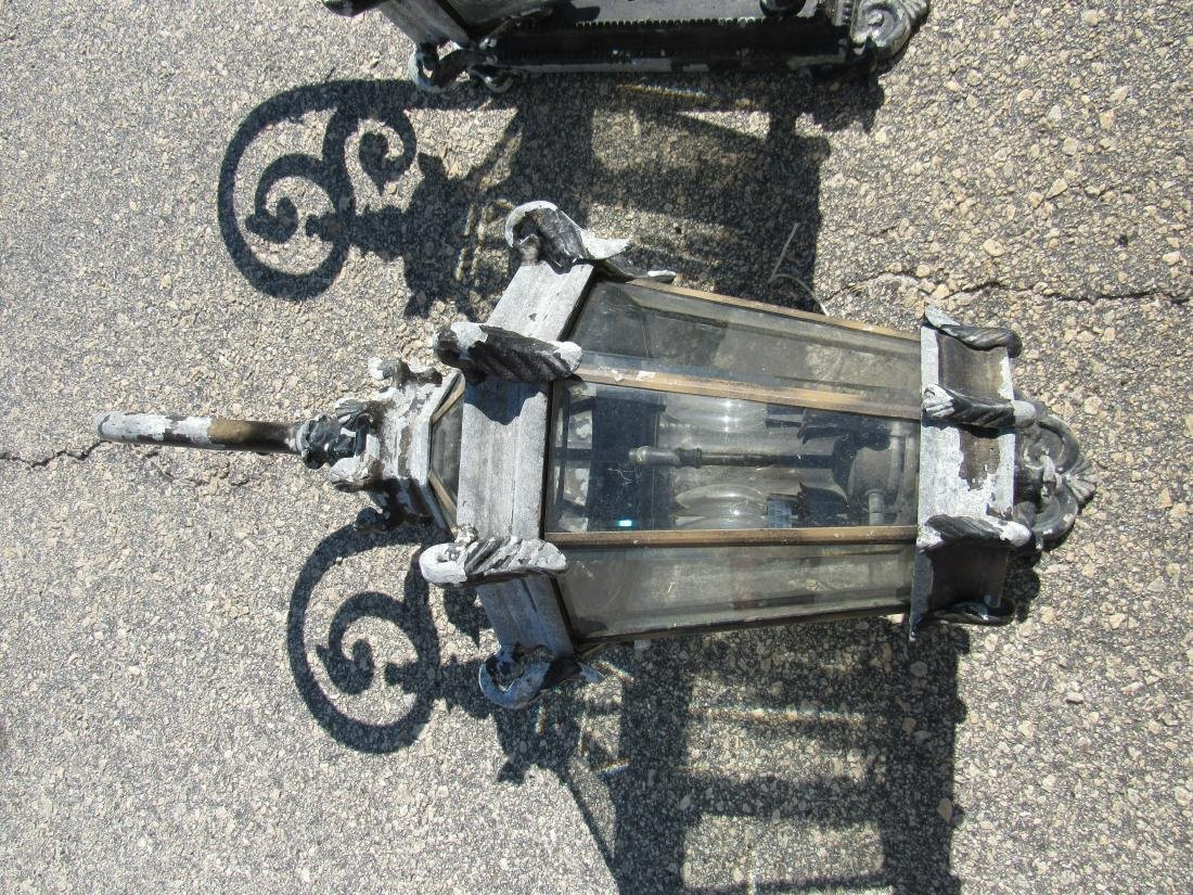 Pair of Ornate Outdoor Sconces