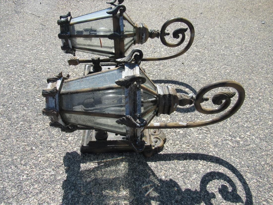 Pair of Ornate Outdoor Sconces - 3