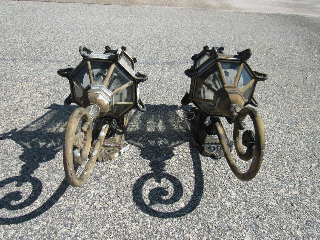 Pair of Ornate Outdoor Sconces - 5