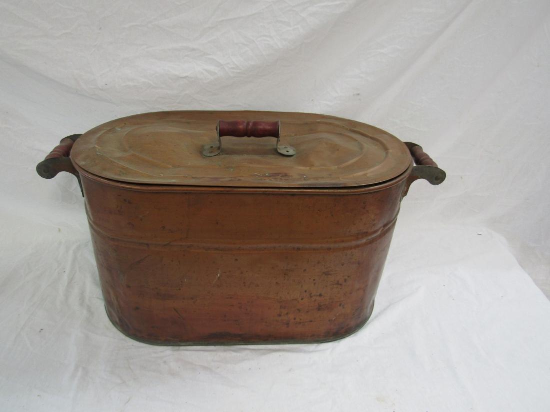 Antique Copper Kettle Wash Tub