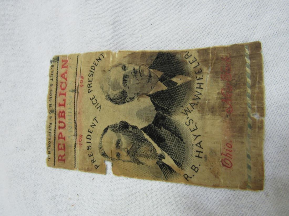 1876 R B Hayes Political Ribbon