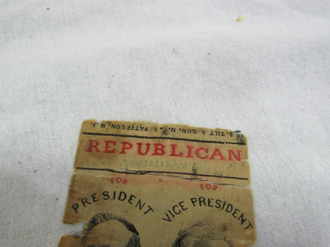 1876 R B Hayes Political Ribbon - 2