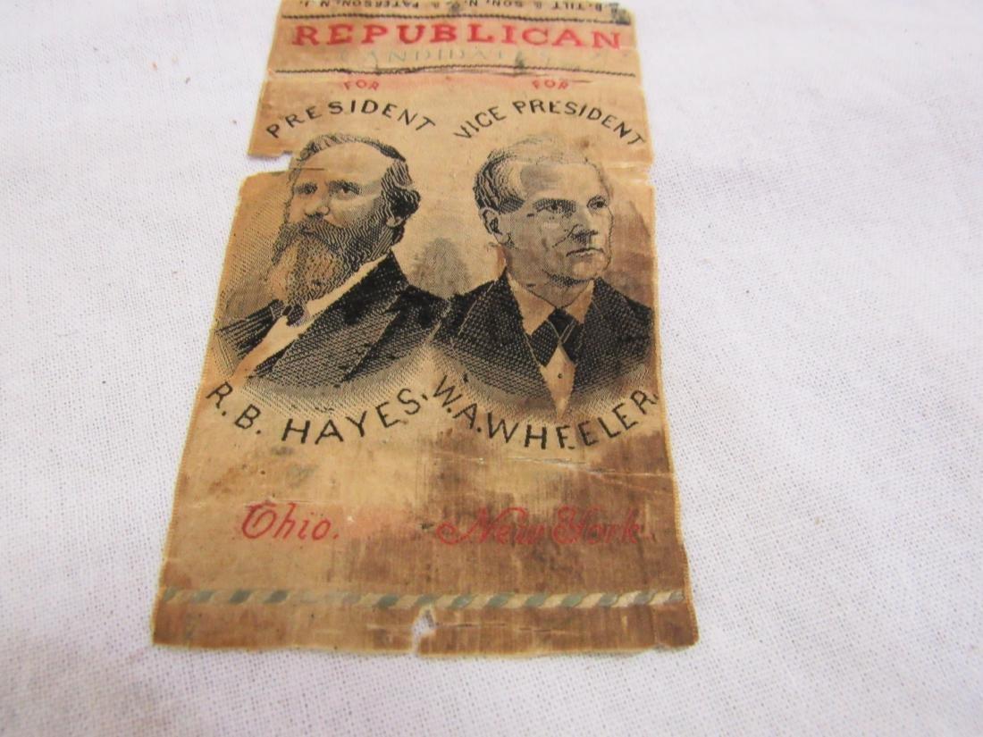 1876 R B Hayes Political Ribbon - 3