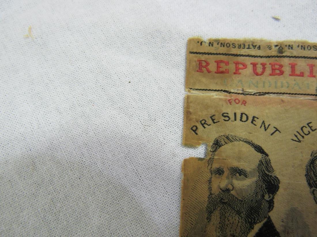 1876 R B Hayes Political Ribbon - 5