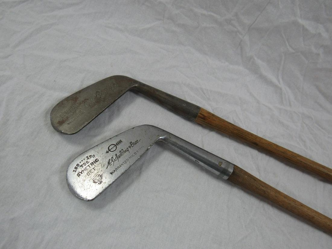 Lot of 2 Antique Wooden Golf Clubs - 2
