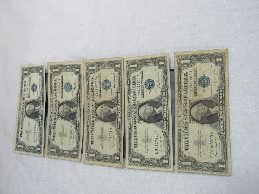 Lot of 5 1957 Silver Certificates