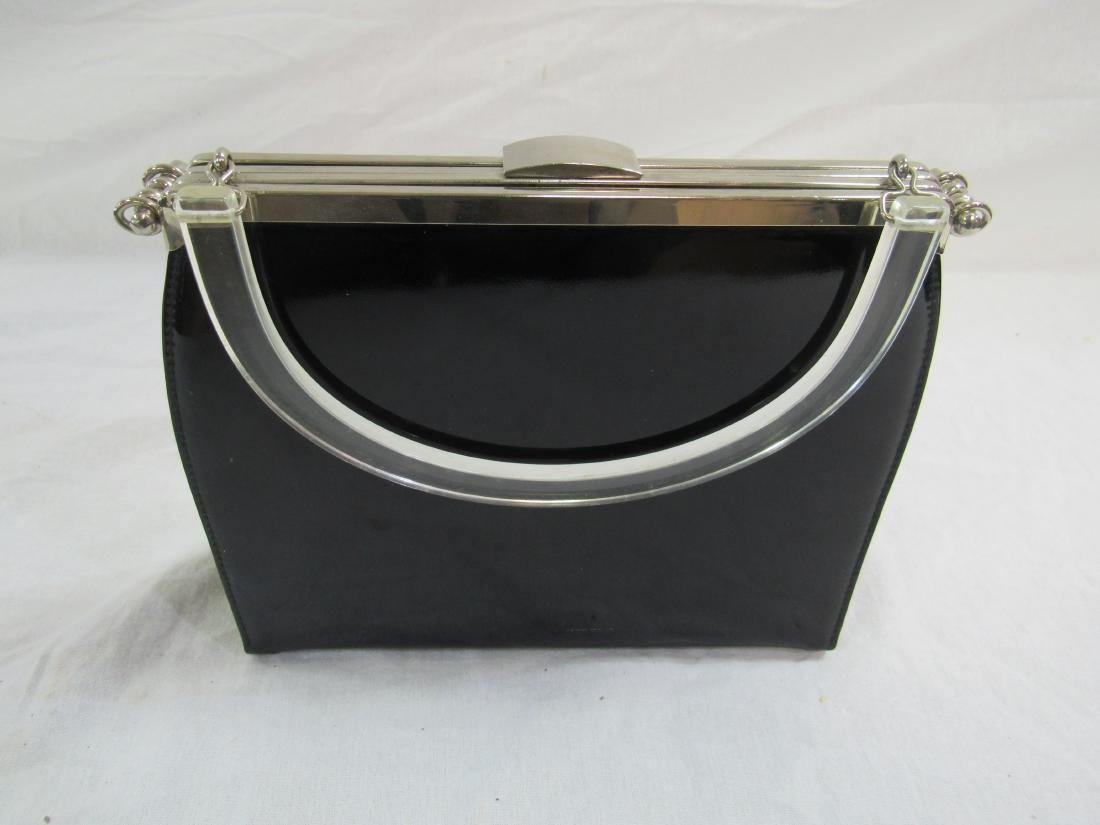 Vintage L and M Vinyl and Acrylic Purse