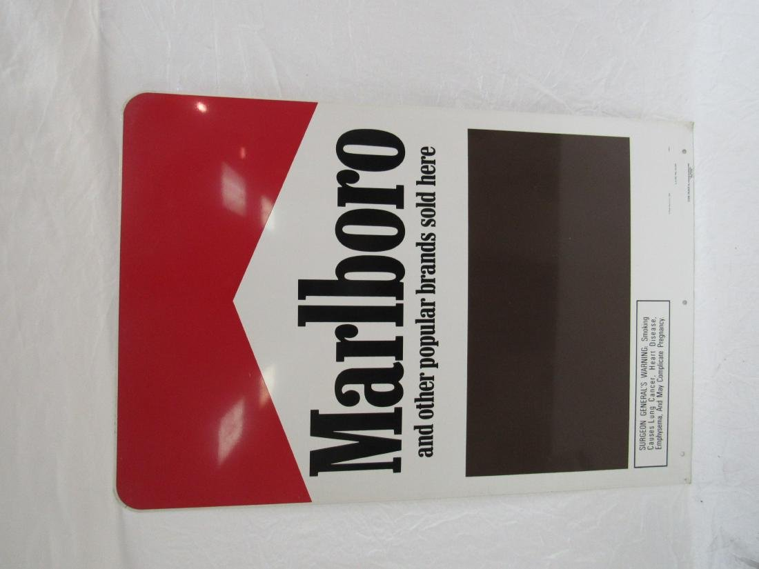 Marlboro Curb Talker Metal Sign