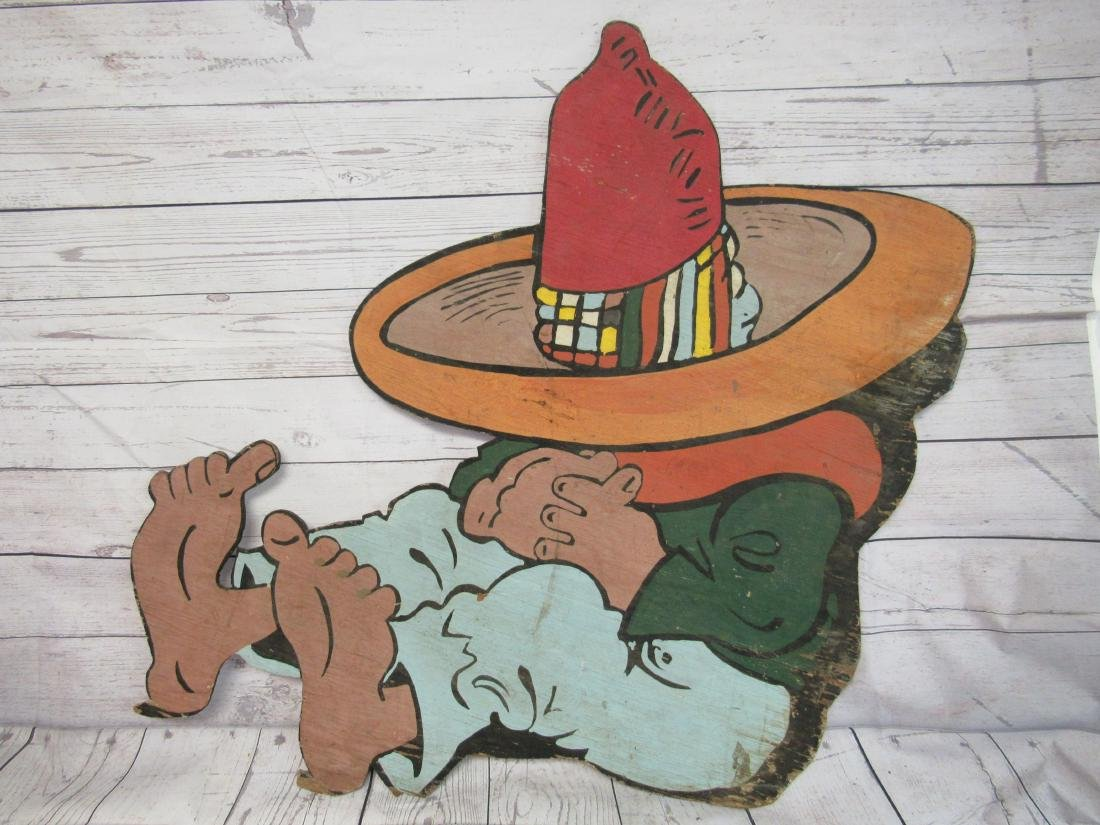 Vintage Wooden Mexican Sign