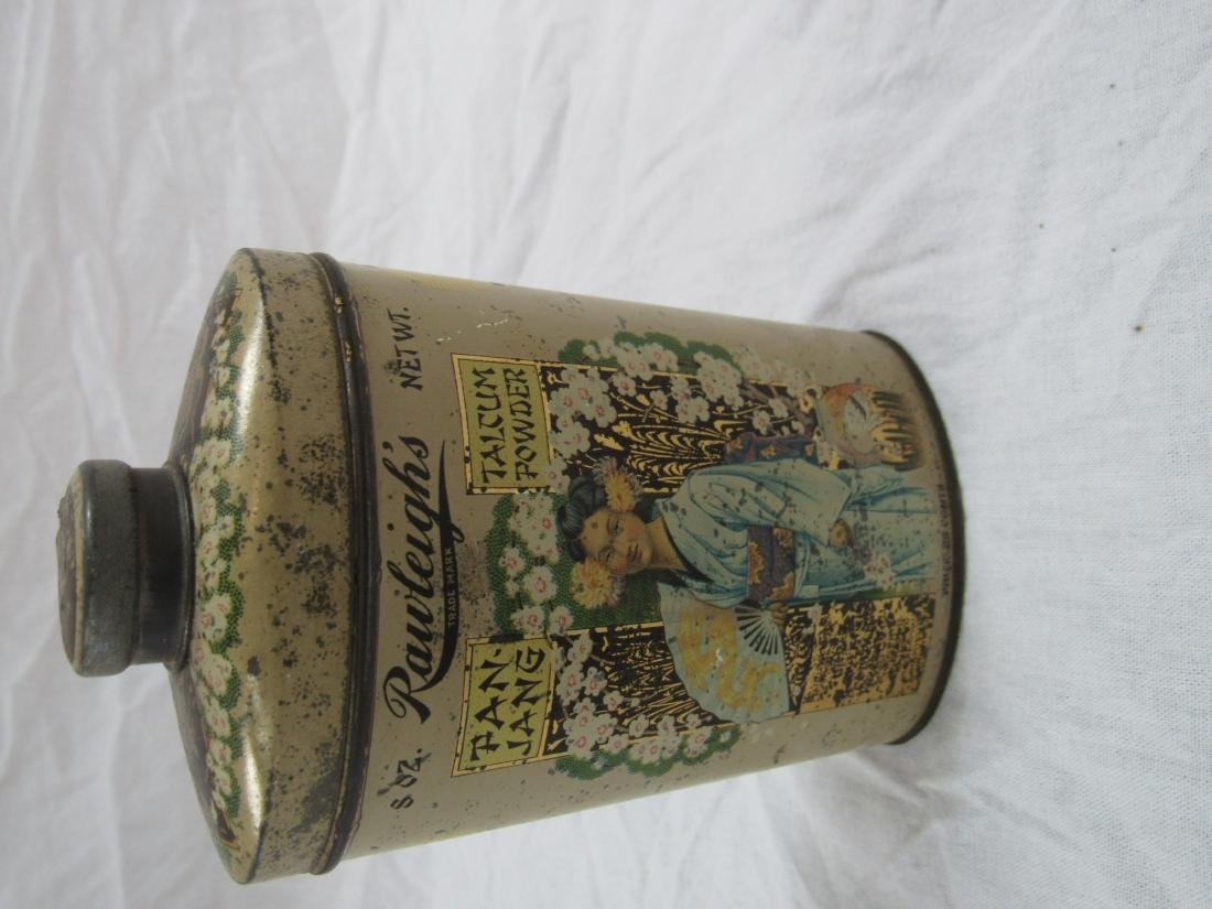 Rawlegh's Tan-Jang Talcum Powder Tin