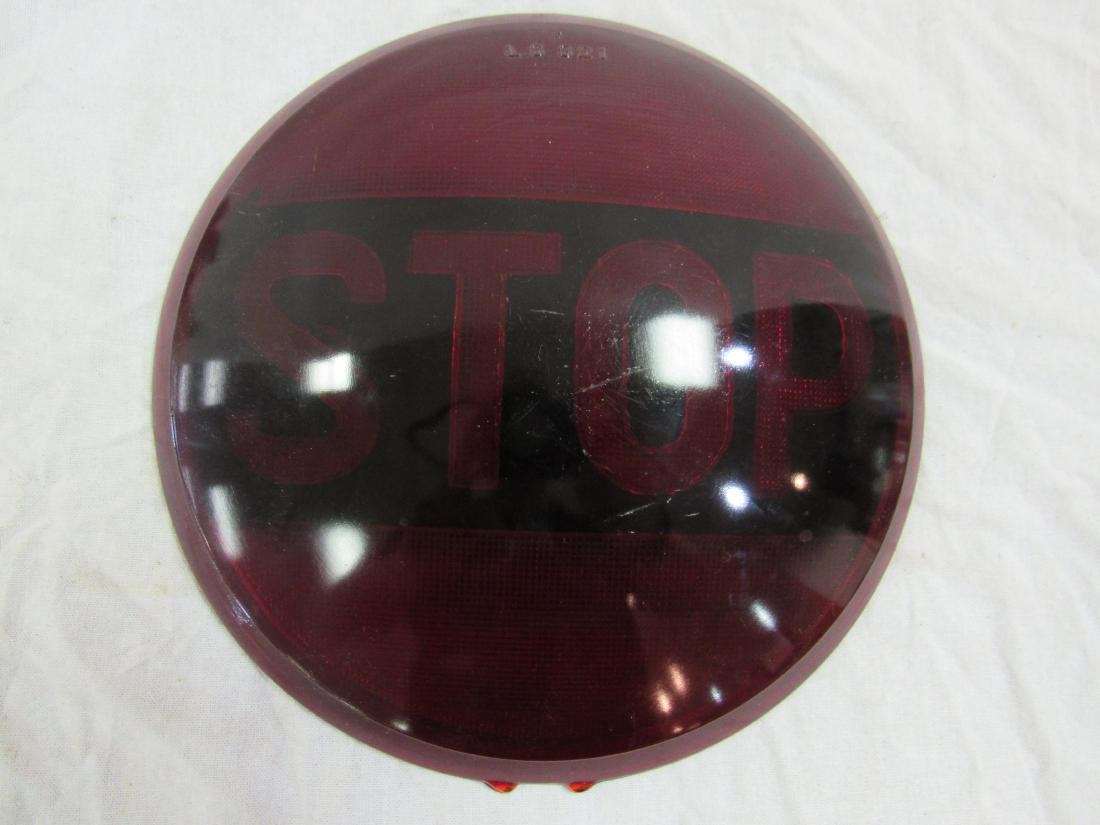 Vintage Red Glass Stop Lenses