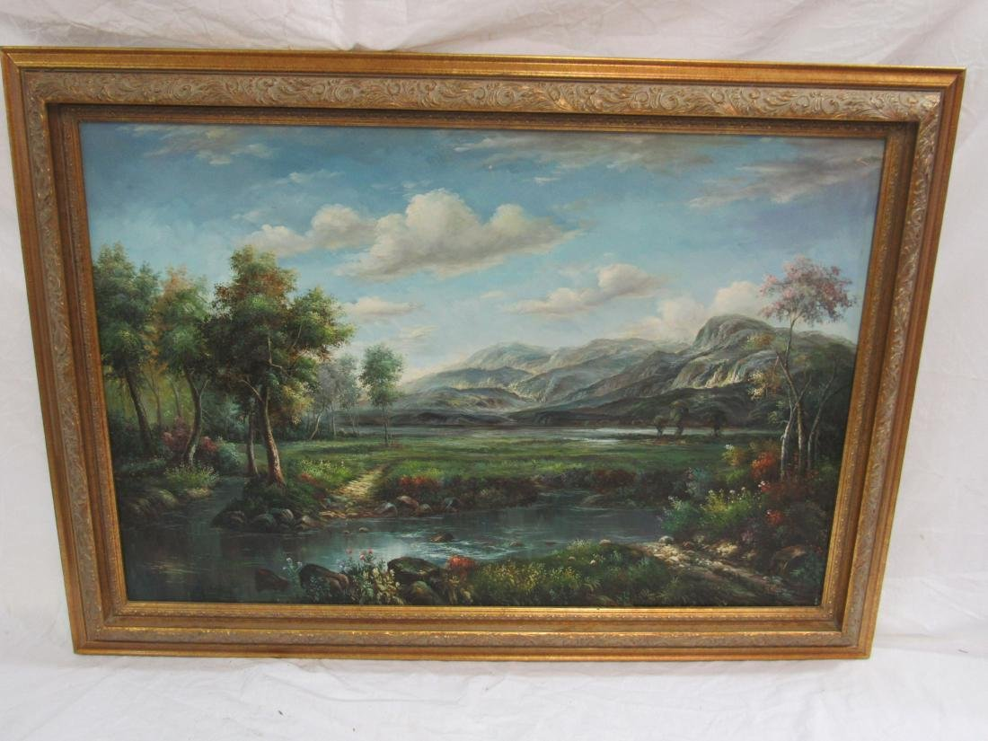 Signed Oil on Canvas Landscape