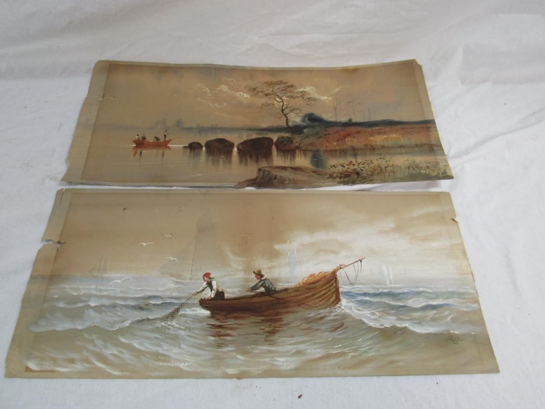 Pair of A R Beck Original Watercolors