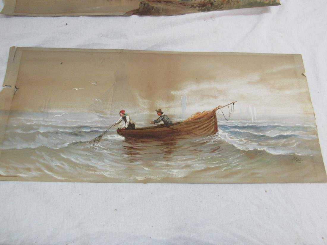 Pair of A R Beck Original Watercolors - 2
