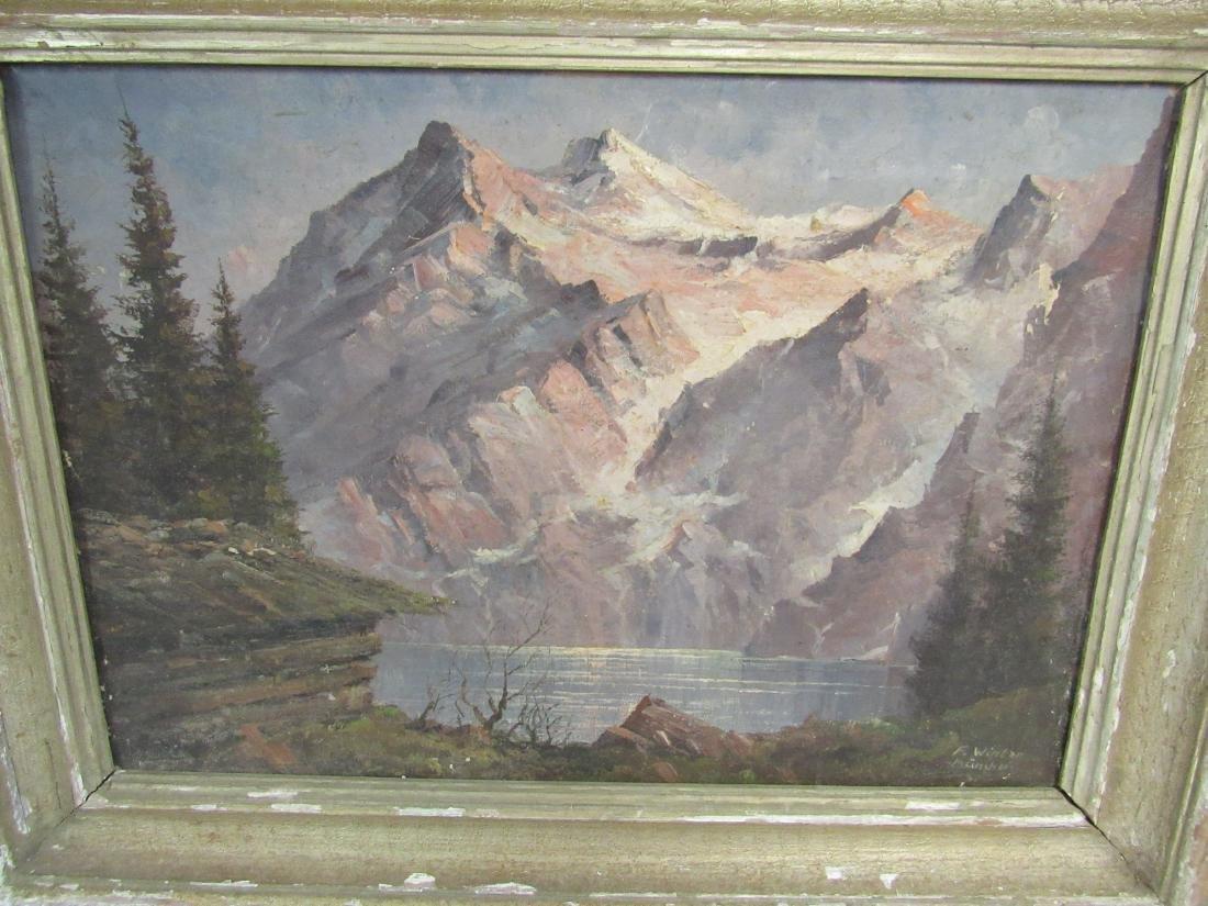 Antique Oil on Canvas, Landscape - 2
