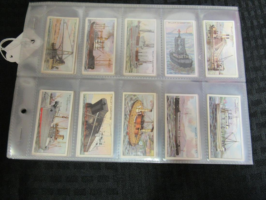 Set of 50 1931 Strange Craft Cigarette Cards