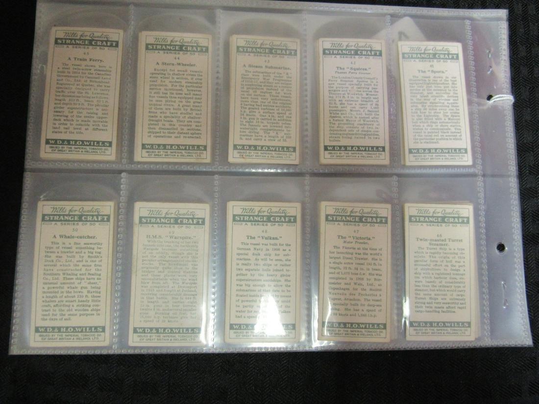 Set of 50 1931 Strange Craft Cigarette Cards - 6