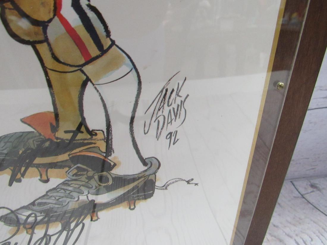 Framed and Autographed Georgia Bulldog Print - 2
