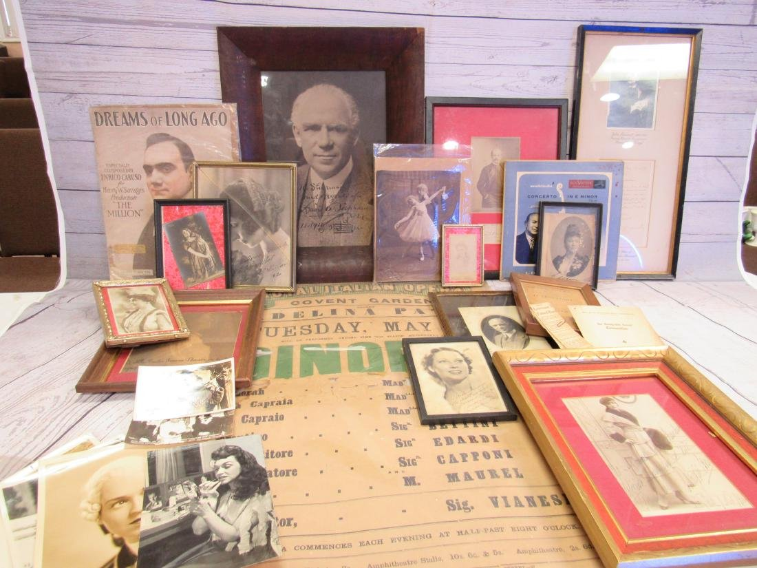 Large Lot of Antique Opera Memorabilia