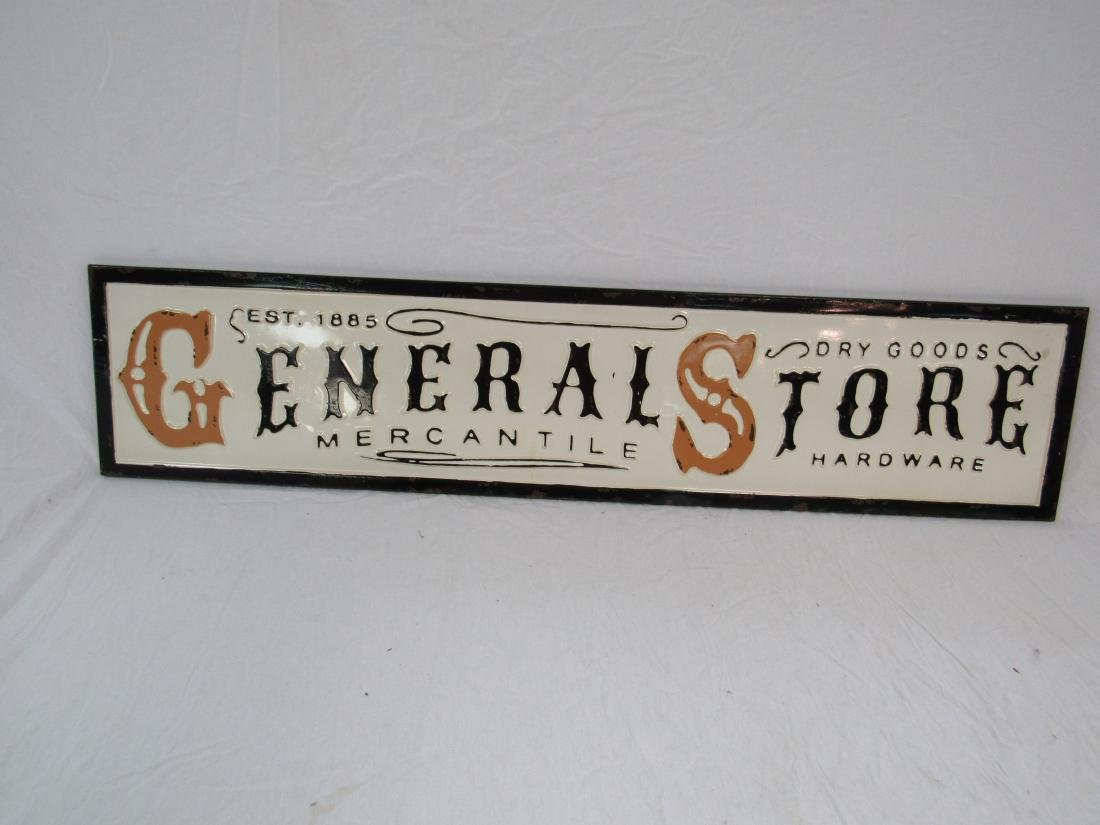 Vintage Inspired Embossed General Store Sign