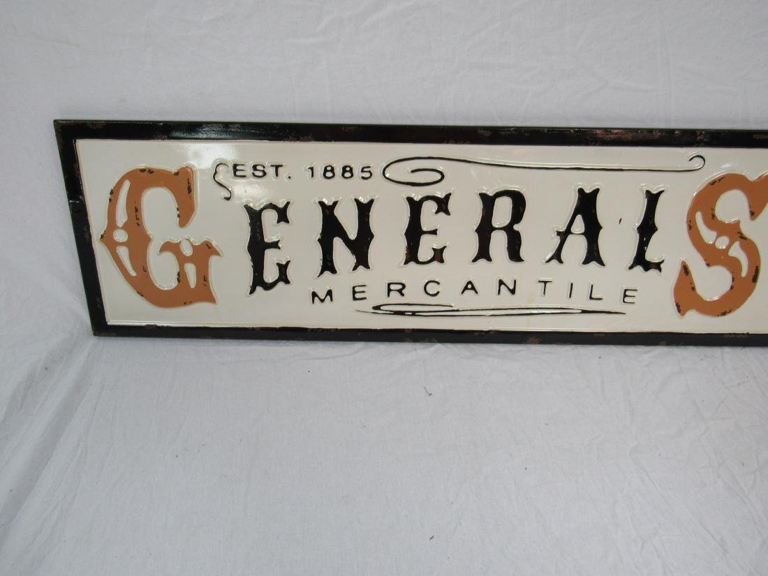 Vintage Inspired Embossed General Store Sign - 2