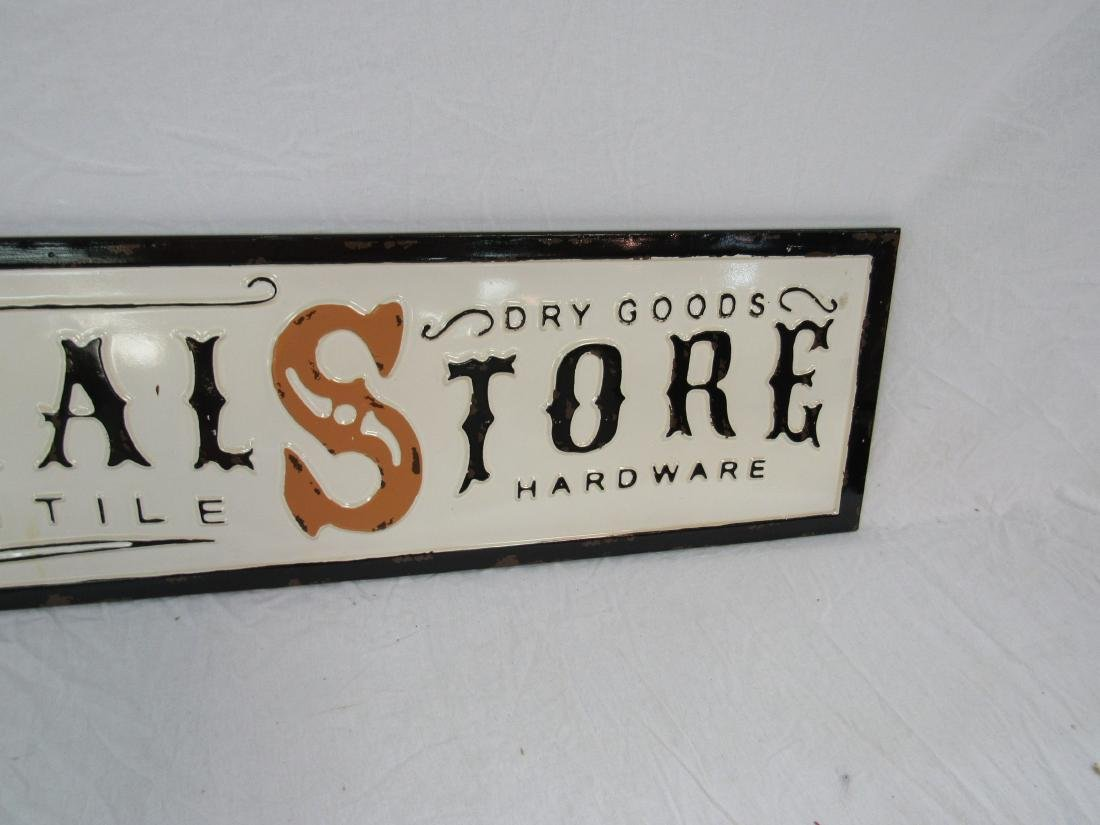 Vintage Inspired Embossed General Store Sign - 3