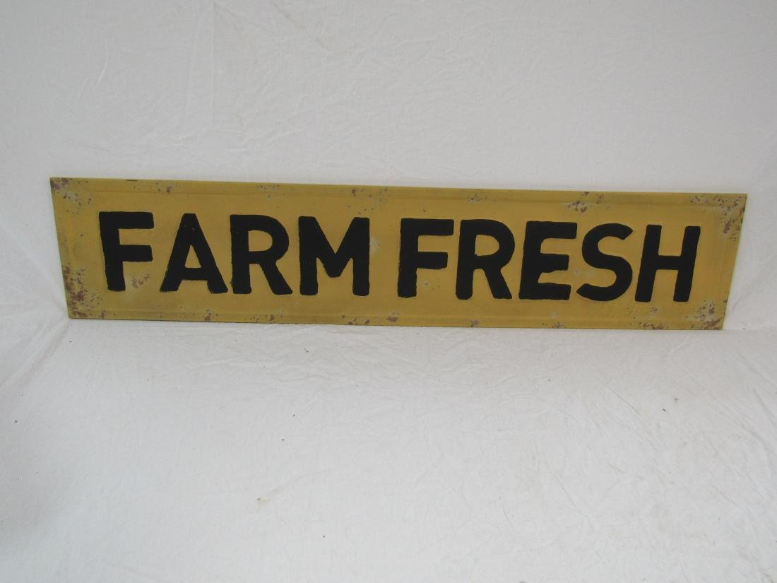 Vintage Inspired Embossed Farm Fresh Sign