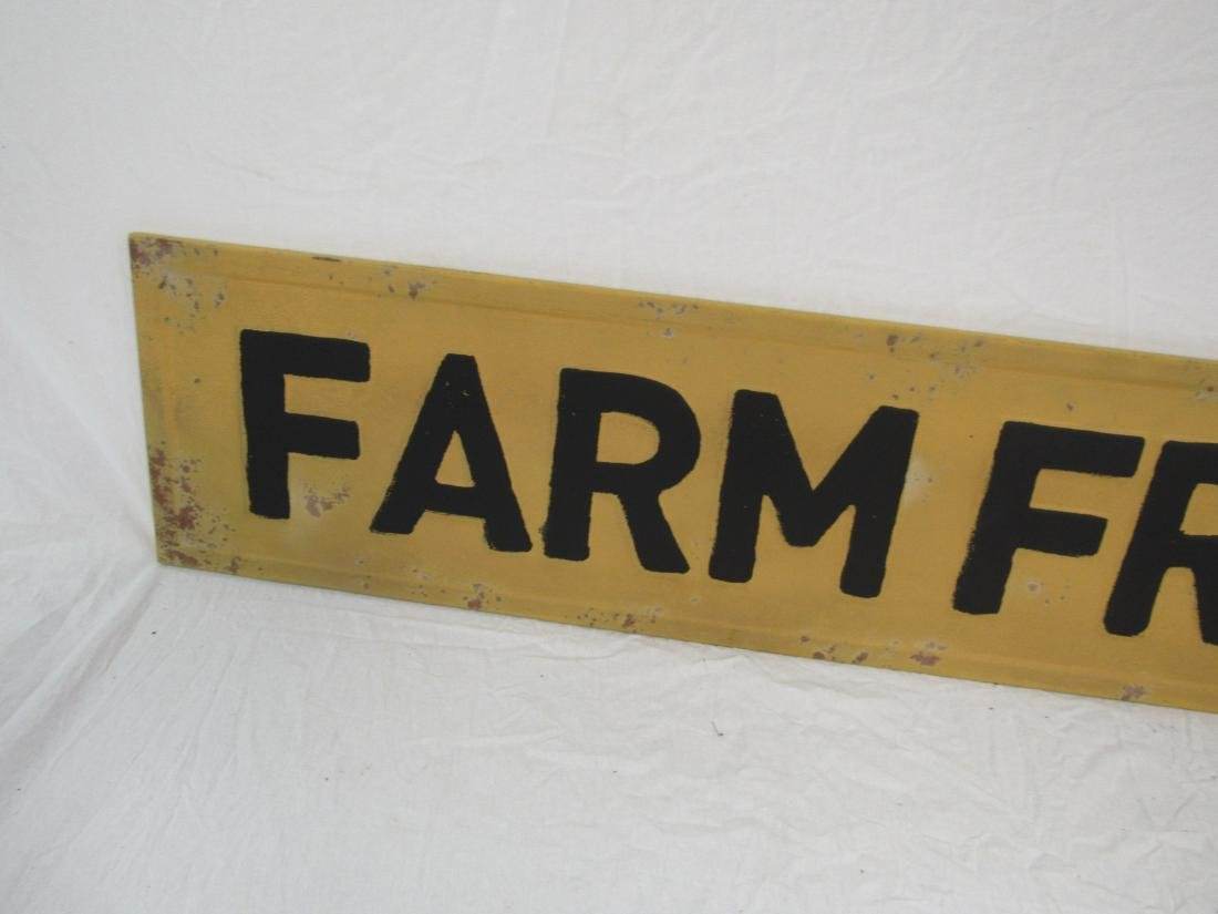 Vintage Inspired Embossed Farm Fresh Sign - 2