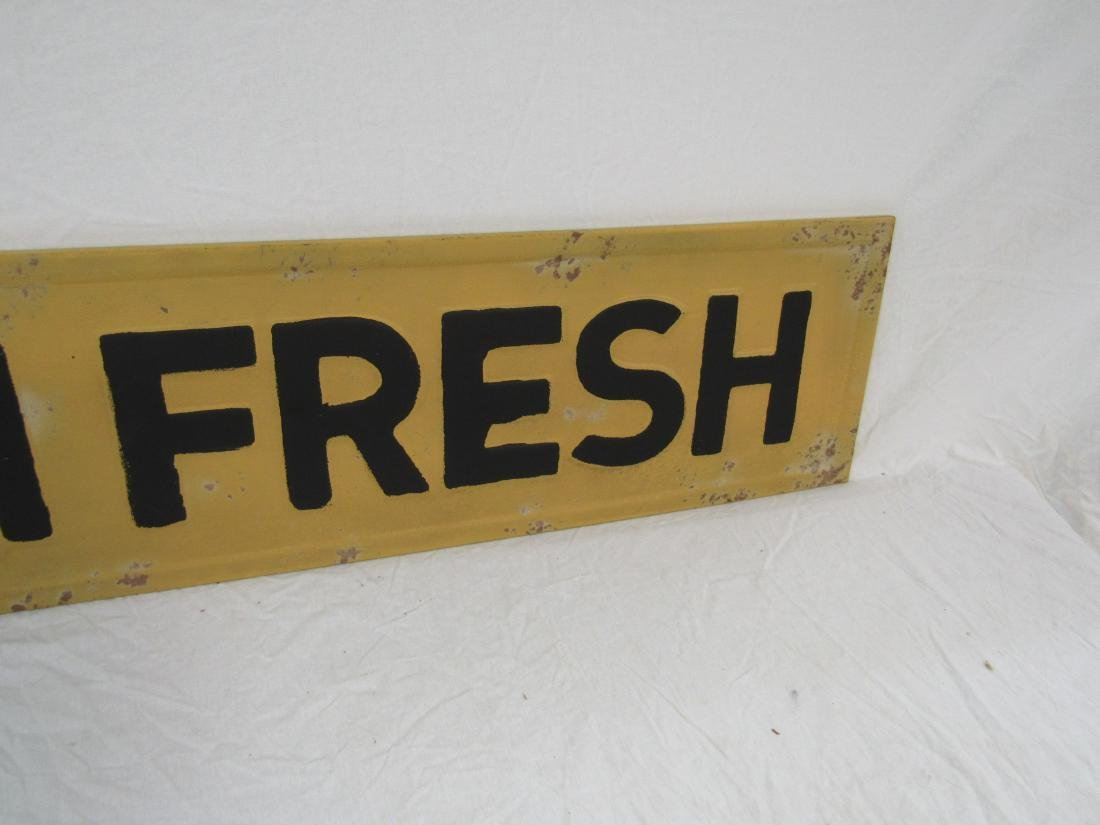 Vintage Inspired Embossed Farm Fresh Sign - 3