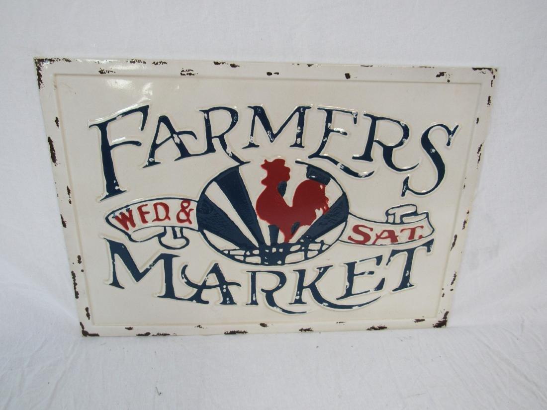 Vintage Inspired Embossed Farmers Market Sign