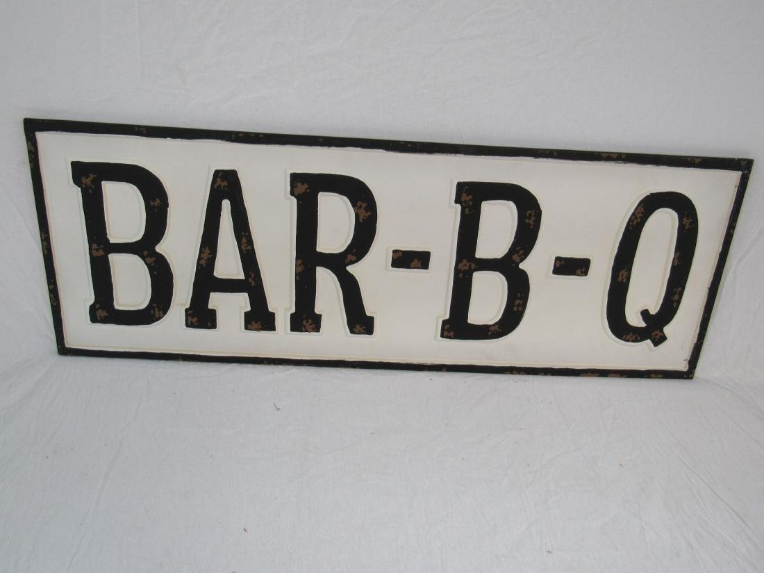 Vintage Inspired Emobssed Bar-B-Q Sign