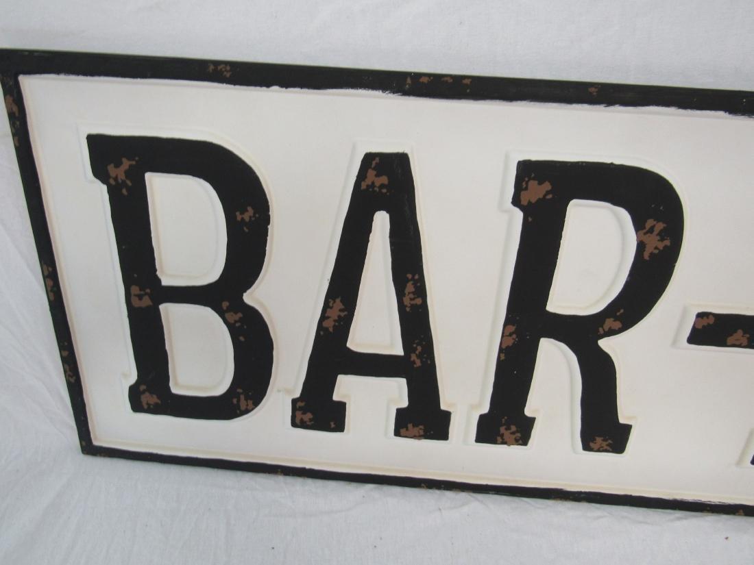 Vintage Inspired Emobssed Bar-B-Q Sign - 2