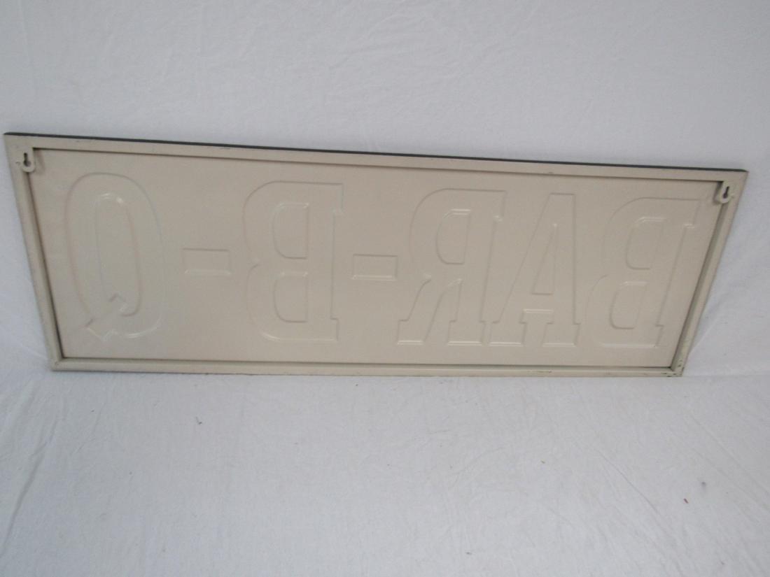 Vintage Inspired Emobssed Bar-B-Q Sign - 3
