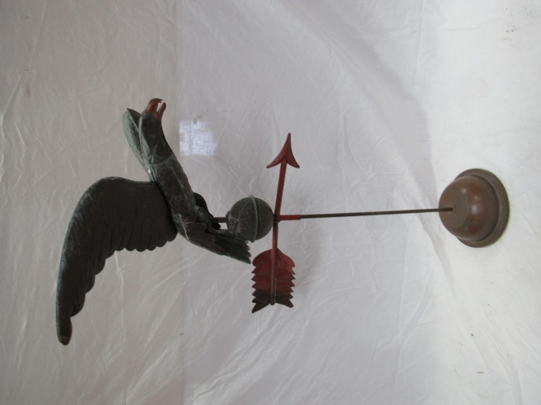 Antique Copper Eagle Weathervane