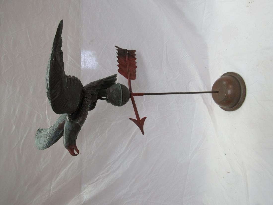 Antique Copper Eagle Weathervane - 2