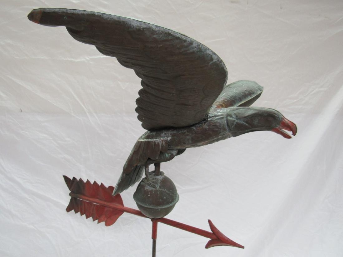 Antique Copper Eagle Weathervane - 4