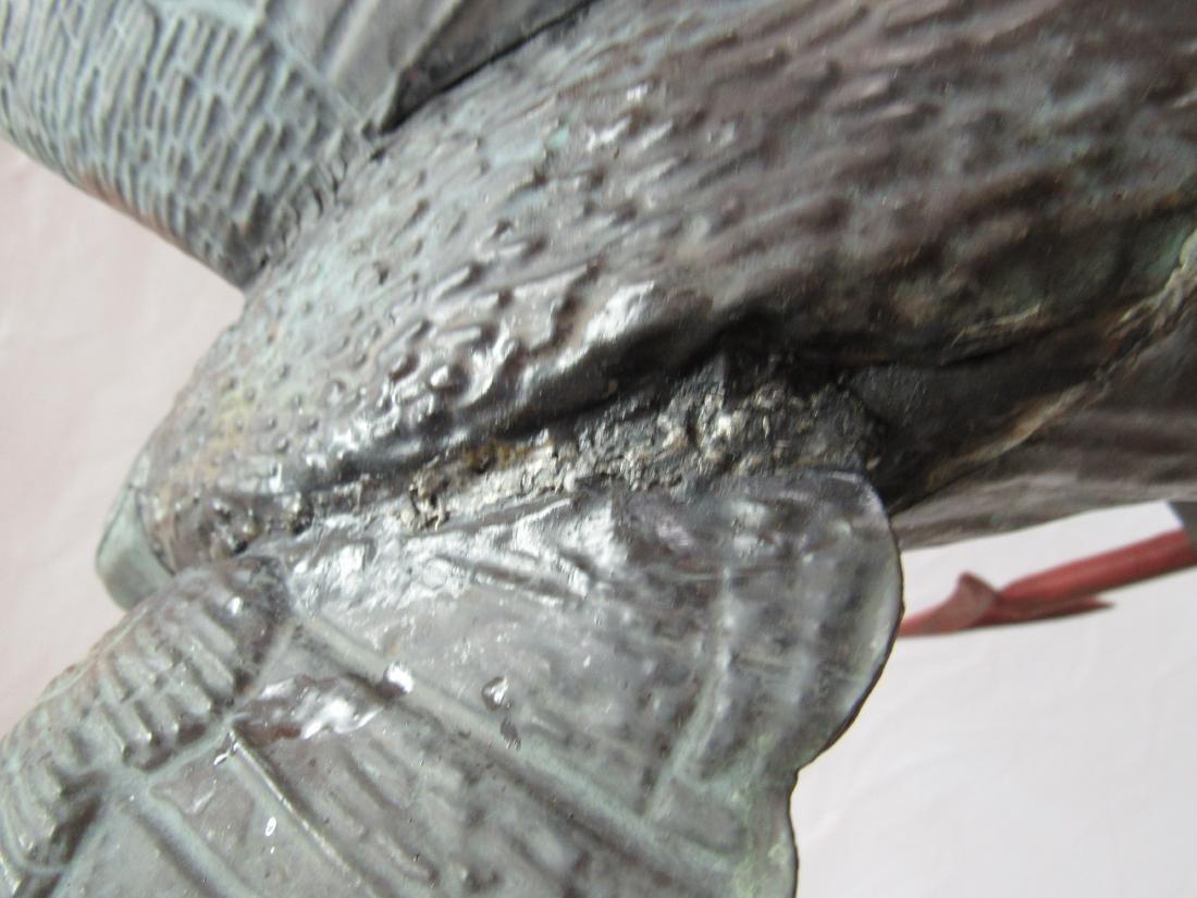 Antique Copper Eagle Weathervane - 6
