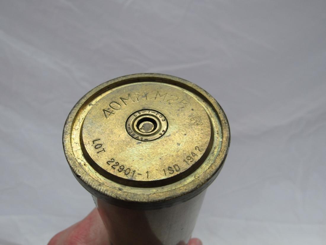Vintage Brass Artillery Shell - 3