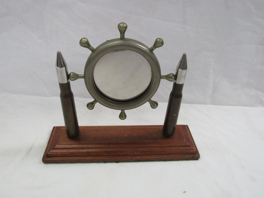 Vintage Trench Art Desk Mirror