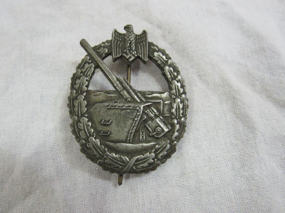 WWII Nazi Germany Naval Coast Artillery War Badge