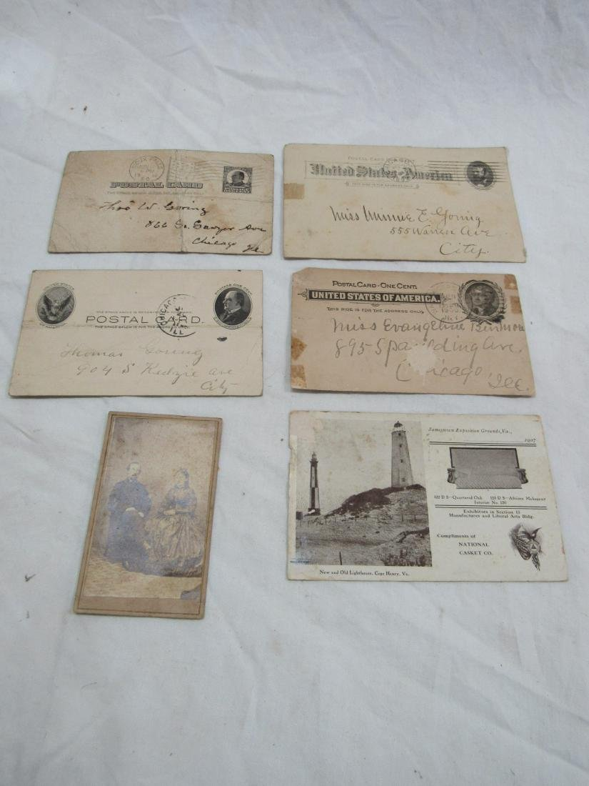 Thomas Goring CDV, 5 Postal Cards, and Les Miserables
