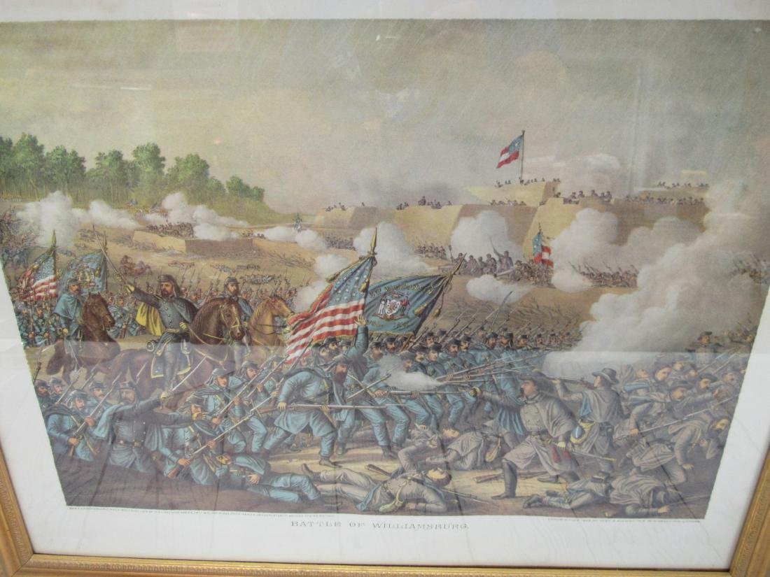 Early Civil War Print, Battle of Williamsburg - 2
