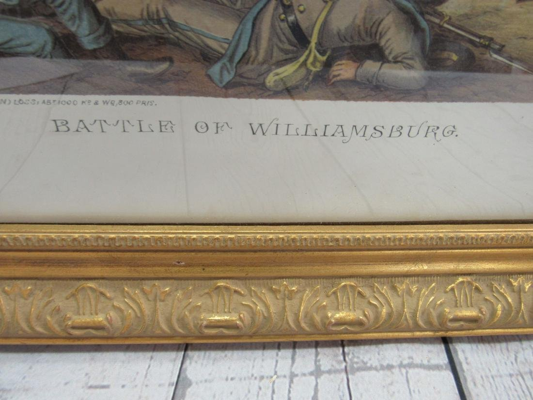 Early Civil War Print, Battle of Williamsburg - 4