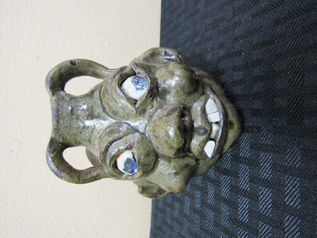 Southern Folk Art Grace Nell Hewell Face Jug - 3