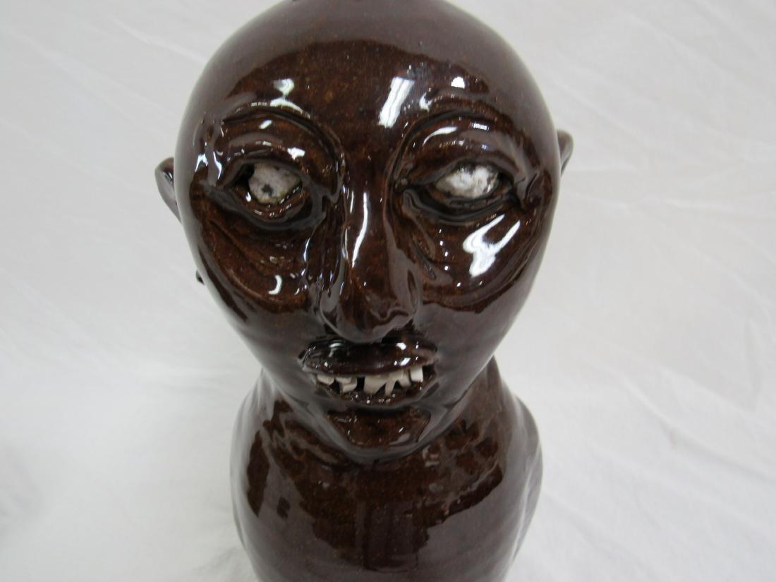 Southern Folk Art Marvin Bailey Character Face Jug - 2