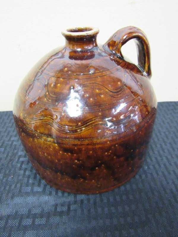 Sand Mountain Pottery Decorated Buggy Jug