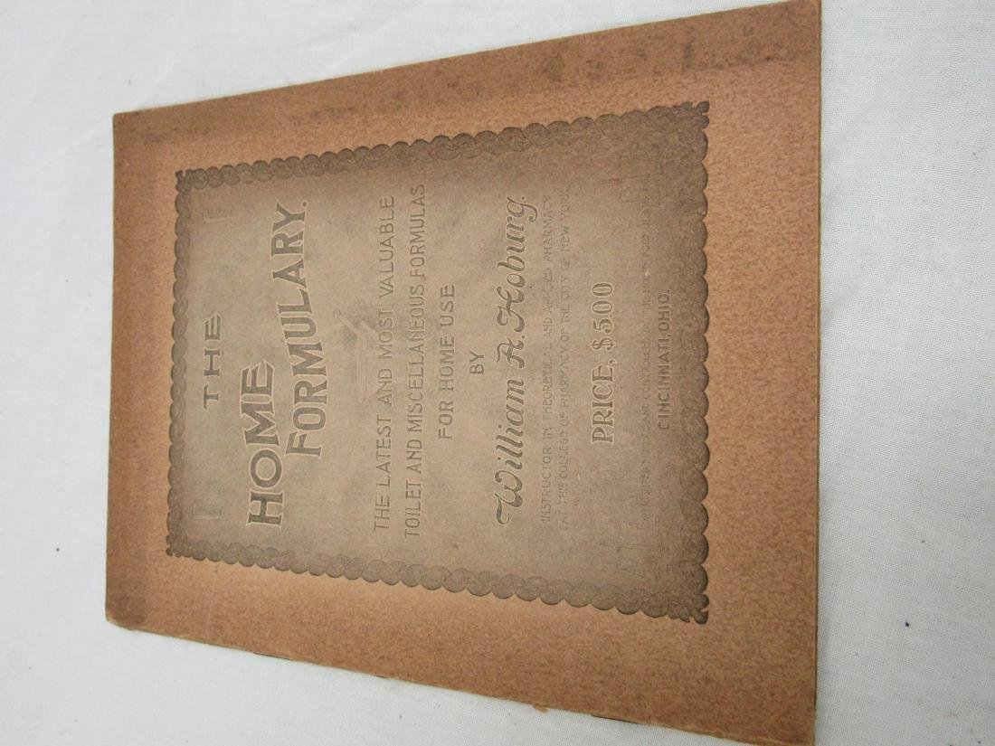 The Home Formulary Booklet Dated 1900