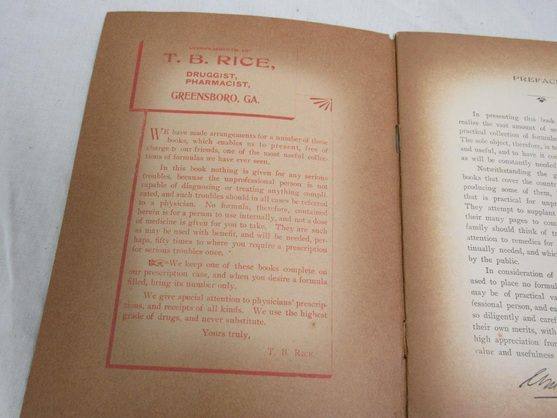The Home Formulary Booklet Dated 1900 - 4