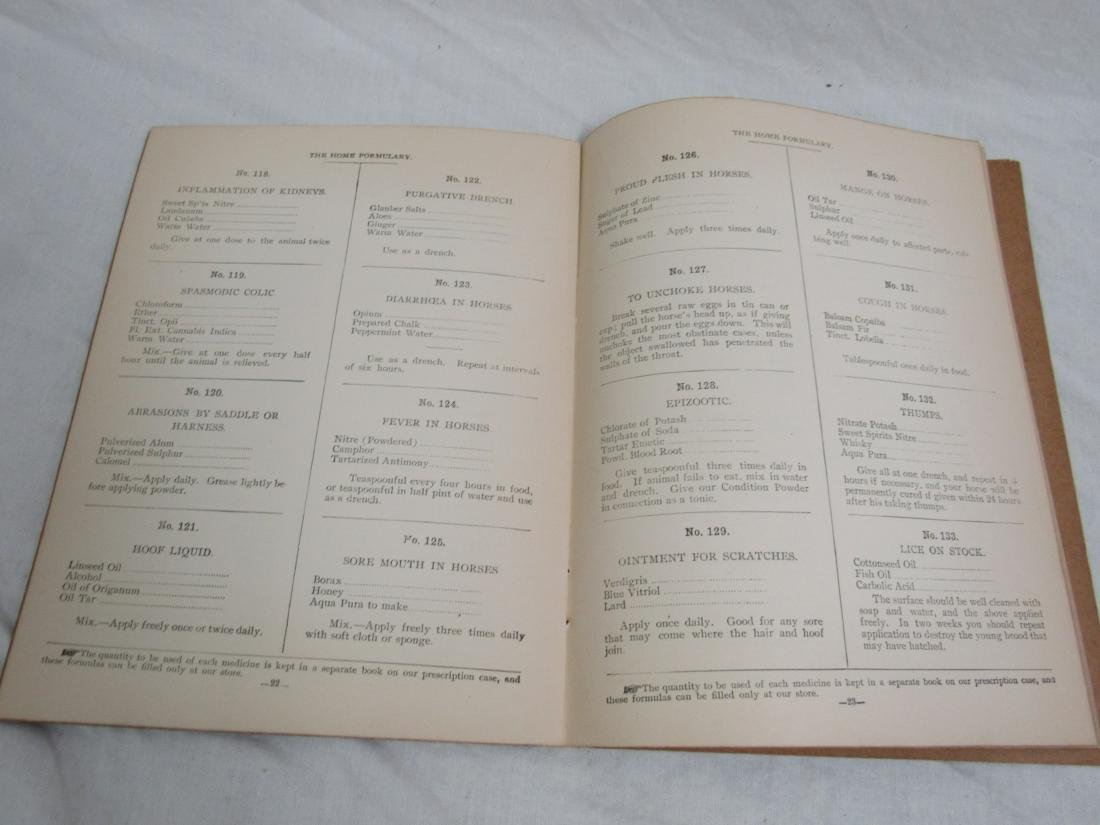 The Home Formulary Booklet Dated 1900 - 5