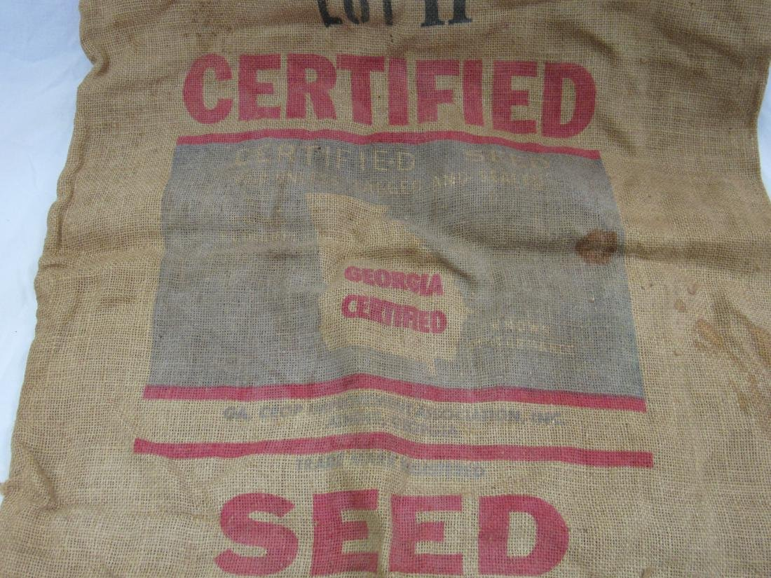 Dixie King II Burlap Cotton Seed Sack - 4